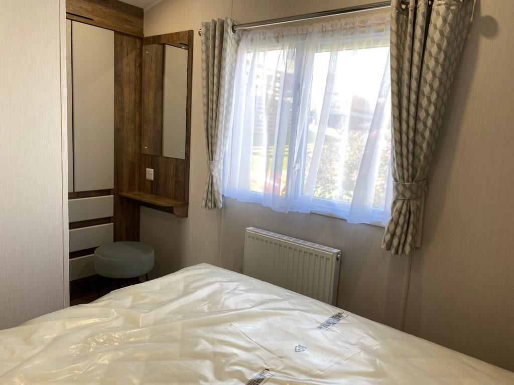 coast-caravan-park-clevedon-new-caravan-for-sale-bedroom-dressing-area